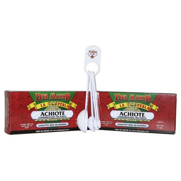 Achiote Yucateco Seasoning Paste Bundle. (Pack of 2) 14 oz Annatto Seed Red Paste And 1 Measuring Spoon Set From Tasteful Blends.