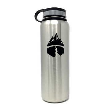 Campsite Essentials 40oz Wide Mouth Insulated Bottle, Brushed Stainless