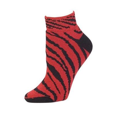 Pizzazz Performance Wear 7090AP -RED -M 7090AP Animal Print Anklet Sock - Red - Medium