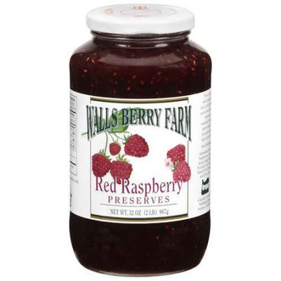 Walls Berry Farm Red Raspberry Preserves, 32 oz