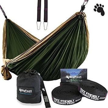 Bigfoot Outdoor Products ErgaLogik Camping Hammock (Brown/Dark Green)