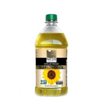 Native Harvest Expeller Pressed High Oleic Non-GMO Sunflower Oil, 2 Liters (67.6 FL OZ)