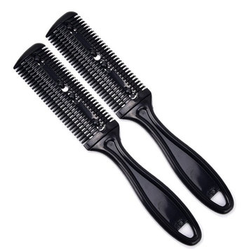 Neverland Beauty Razor Comb for HAIR CUTTER 2 PACKS SET ( Black)