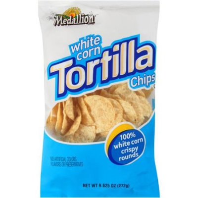 Medallion White Corn Tortilla Chips, 9.625 oz