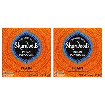 Sharwoods Plain Puppodums, Traditional Indian Crackers 4 oz