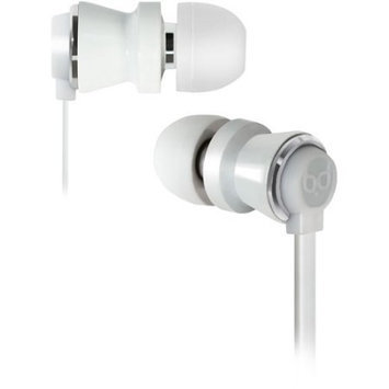 Bell'o International Bell'O Digital In-Ear Headphones, White and Chrome