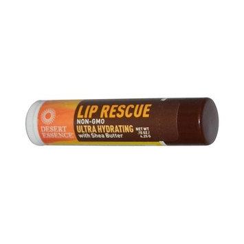 Desert Essence Lip Rescue with Shea Butter - 0.15 oz - Case of 24 Desert Essence Lip Rescue with Sh