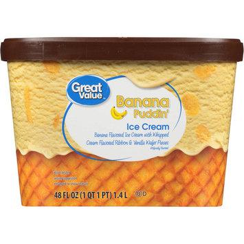 Great Value Banana Pudding Ice Cream, 48 oz