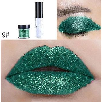 Dragon Ranee Shimmer Glitter Lip Gloss Powder Palette Glitter Lipstick Cosmetic Eye Shadow by DMZing (LE-09)