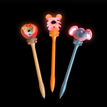 Rhode Island Novelty Light Up Zoo Animal Pens (1 dz)