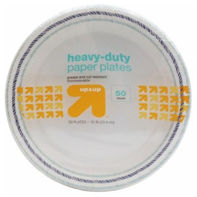 Heavy Duty Disposable Paper Plates - 10