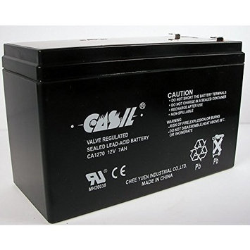 12V 8AH SLA Replacement For 187 FASTON Casil Battery brand product, ship from USA,Brand AAA Security Depot