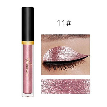 Gold Silver Metallic Nude Shimmer Liquid Eye Gloss Waterproof Pigment Eyeshadow