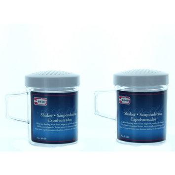 Plastic Shakers Lot of 2 Sugar Flour Kitchen Tool K444