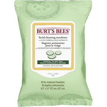 Burt's Bees Cucumber & Sage Facial Cleansing Towelettes 30 Sheets