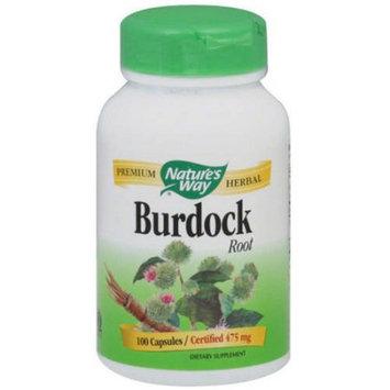 Natures Way Burdock Root Organic, 100 CP