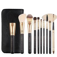 UPLOTER New 10 pcs Makeup Brush Set tools Make-up Toiletry Kit Wool Make Up Brush Set