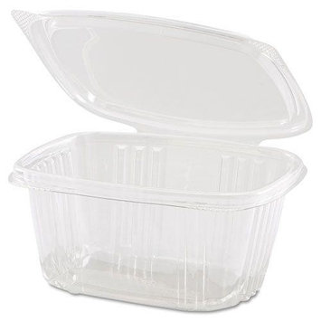 Clear Hinged Deli Container, 8oz, 5 3/8 x 4 1/2 x 1 1/2, 100/Bag, 2 Bags/Carton