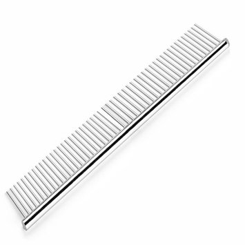 Pet Grooming Comb Stainless Steel Cats Dogs Puppy Small Animals Hair Trimmer Brush Accessory Tool with Smooth Teeth Needle Durable Lightweight