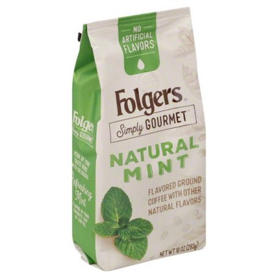 The J.m. Smucker Company Folgers Simply Gourmet Natural Mint Flavored Ground Coffee, With Other Natural Flavors, 10-Ounce