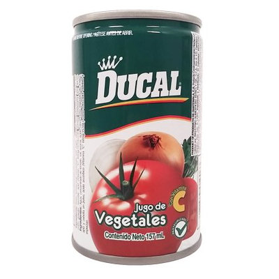 Ducal Vegetables Juice 5.3 oz fl - Jugo de Vegetales (Pack of 24)