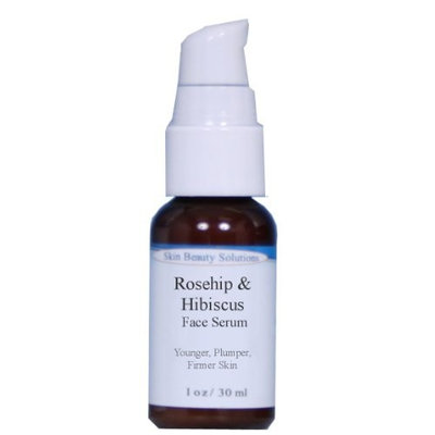 1oz Rosehip & Hibiscus Facial Serum with Vitamins A B C E-Skin Lightening Wrinkles Acne