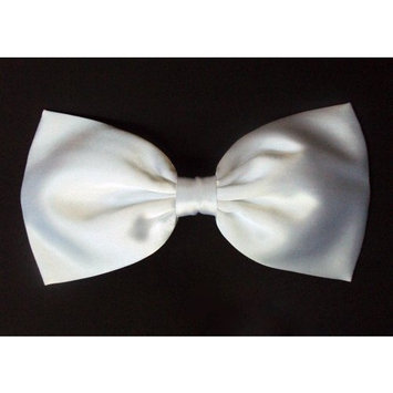 Large Pure White Satin Hair Bow (Barrette) by EmilyRose Couture