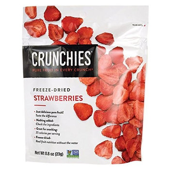 Crunchies Food Company Freeze-Dried Strawberries 0.8 oz (23 g) pkg