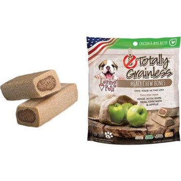 Loving Pets Totally Grainless Meaty Chewy Bones For Medium Dogs 6oz-Chicken & Apple