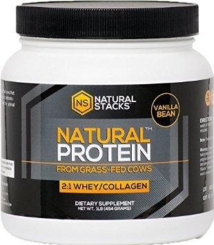 Natural Stacks - Natural BCAAs with Beta-Alanine - 150 Vegetarian Capsules