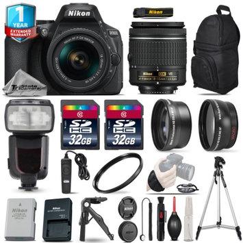 Tristatecamera Nikon D5600 DSLR Camera + 18-55mm VR -3 Lens Kit + Pro Flash + UV + 1yr Warranty