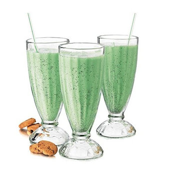 Fountain Shoppe Classic, Milk Shake, Ice Cream Soda Glass, 12-Ounce, Clear 4 PACK By Chefcaptain