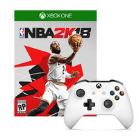 Microsoft Xbox One Controller in White with NBA 2K18