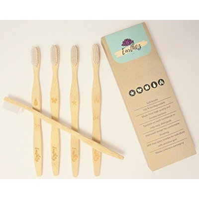 Bamboo Toothbrush: bamboo, five(5) pack, soft bristle, biodegradable bristles, adults, child, kids, family pack, BPA free, travel, soft, differentiable, Earthoz