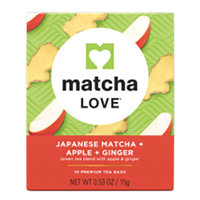 Matcha Love Japanese Matcha + Apple + Ginger 0.53 oz Boxess - Pack of 1