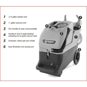 Advance ET610-100SC Portable Carpet Extractor Machine Only, no hose and wand