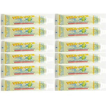 12 Pk VITA-MYR Childrens Xylitol Orange Natural Toothpaste 5.4 Oz