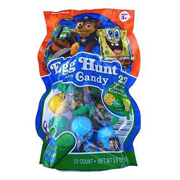 Nickelodeon Easter Eggs with Candy,Paw Patrol,Spongebob & Teenage Mutant Ninja Turtles, 22 Eggs