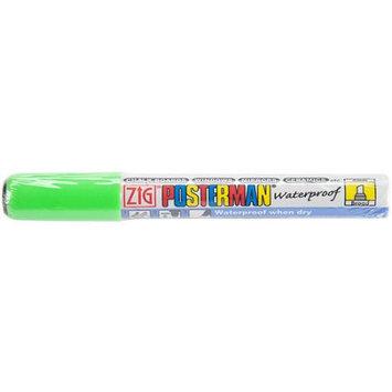 Zig Posterman Broad Tip Marker-Fluorescent Green 12PK