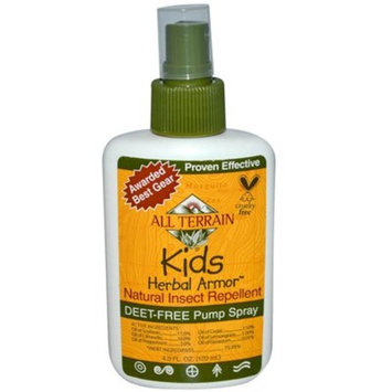 All Terrain Kids DEET-Free Herbal Armor Insect Repellent, 4 Ounce, Safe Sensitive Skin, Effective Bug Spray Formula Natural Essential Oils, Great Travel, Camping, Outdoor Activities