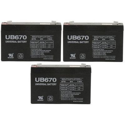 6v 7000 mAh UPS Battery for Power Patrol SLA0925 - 3 Pack