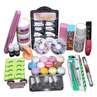 Acryic Powder Nail Art Decorations Kit Brush Cuticle Revitalizer Oil Pen Tools By DMZing