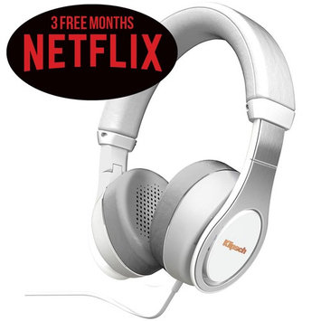 Klipsch Reference Bluetooth Headphones (White) (1063392) Plus 3 Free Months of Netflix