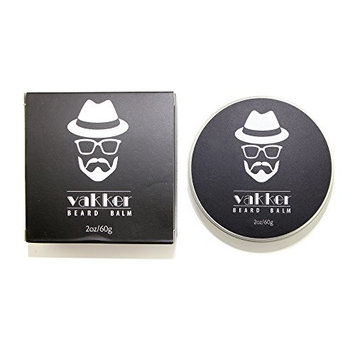 VAKKER all NATURAL Beard & Mustache Balm leave in conditioner beard wax 2 oz/60 g