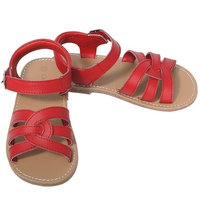 L'Amour Red Woven Strap Summer Sandals Toddler Girls 5-10