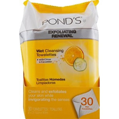 Pond's Wet Cleansing Towelettes, Morning Fresh, 30 Each (Pack of 10)