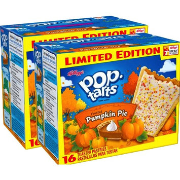 Kellogg's Pop-Tarts Frosted Caramel Apple/ Kellogg's Pop-Tarts Frosted Pumpkin Pie Toaster Pastries, 16ct 28.2oz (Pumpkin Pie, 2)