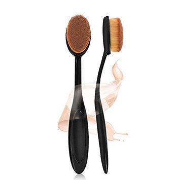 EYX Formual Oval Long Handle Cosmetic Brush for Liquid&Cream&Contour,2016 New Design Most Popular Korean Blending Blush and Concealer Brush for Yves Saint Laurent Face Powder Cream