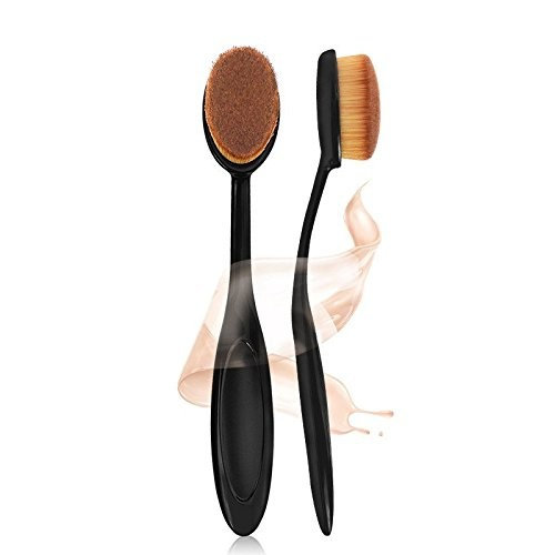 EYX Formual Oval Long Handle Cosmetic Brush for Liquid&Cream&Contour,2016 New Design Most Popular Korean Blending Blush and Concealer Brush for Yves Saint Laurent Face Powder Cream