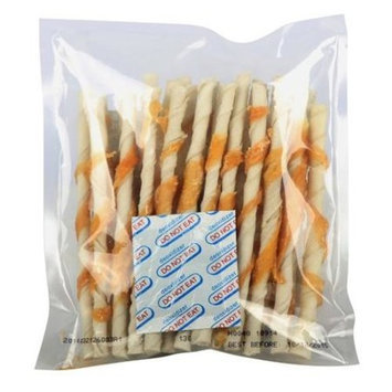 Golden Rewards Exer-Hides Rawhide Twists with Chicken, 25pk